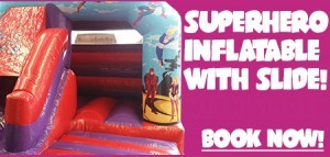 Superhero Inflatable with Slide!